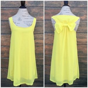 Dresses & Skirts - Yellow boutique lined sheer tunic dress